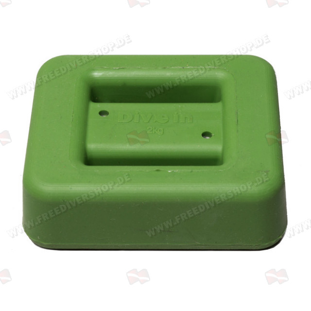 2 kg / 4.4 lbs Green Rubber Coated Belt Weight