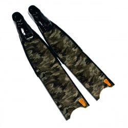 Leaderfins Green Camo Fins + Fins Box