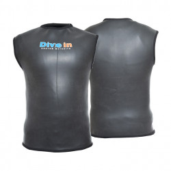 Divein Black Smoothskin Neoprene Dive Vest